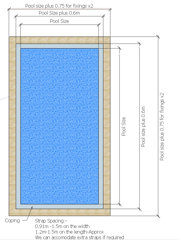Winter debris pool covers for swimming pools for Standard swimming pool size uk